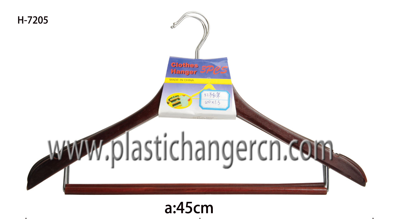 7205 wood suit hanger