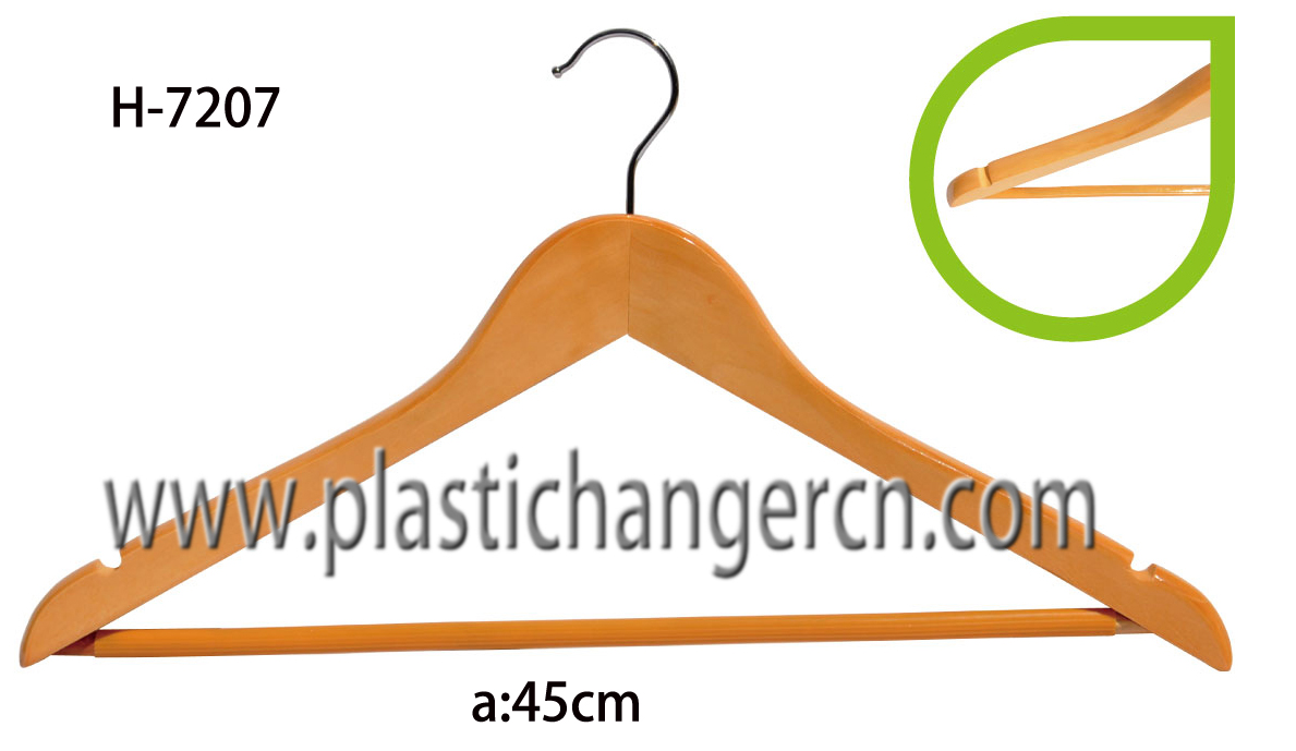 7207 wood coat hanger